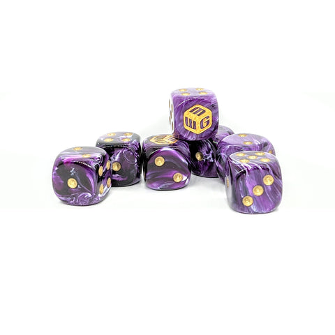 Limited - Royal MiniWarGaming Dice Set - 7 6-Sided Dice (7D6)