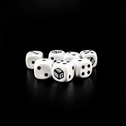 Classic MiniWarGaming Logo Dice - 7 6-Sided Dice (7D6)