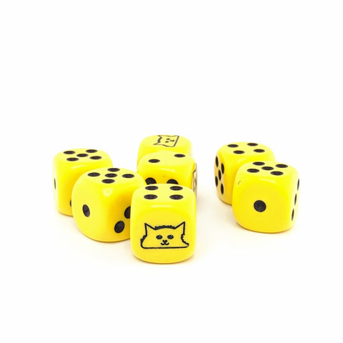 Luka's Tacocat Pack - 7 6-Sided Dice (7D6)
