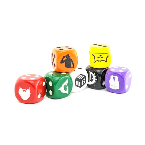 Assorted Dice Pack - 7 6-Sided Dice (7D6)