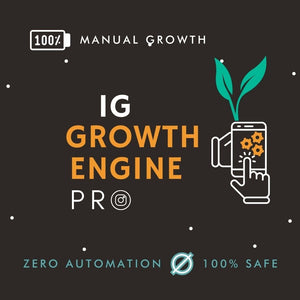 Instagram Growth Engine PRO (100% Manual Growth) - SOCIAL GROWTH ENGINE