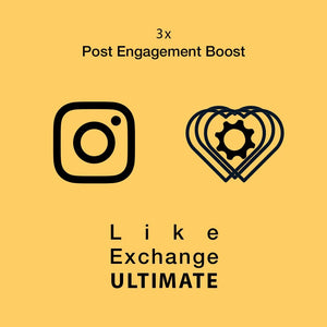 Like Exchange & Post Engagement Boost ULTIMATE (3 Posts Per Day)
