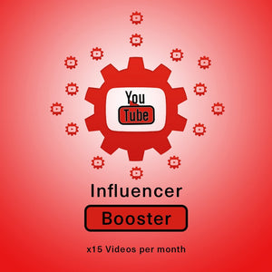 YouTube Influencer Booster x 15 Vids a Month | Get Paid More, Get Seen More!