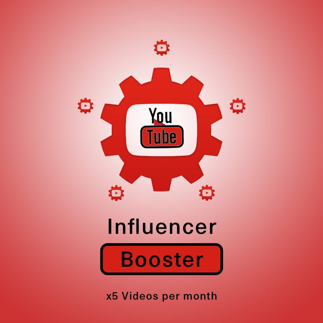 YouTube Influencer Booster x 5 Vids a Month | Get Paid More, Get Seen More!