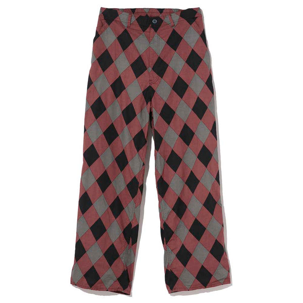 Argyle Work Pants (UC1A4504-2) Red