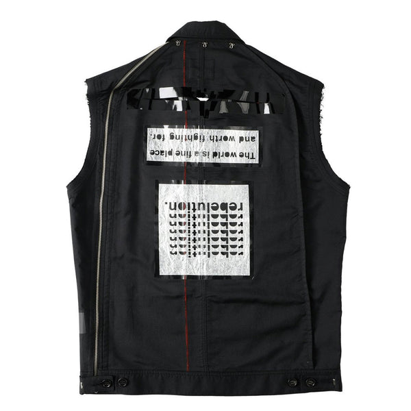 SLEEVELESS SIDE BACK ZIP WORK JACKET? (sj.0014SS21) black
