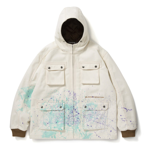 HOODED PAINTER JACKET (O.WHT)