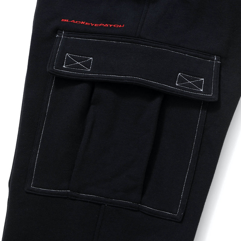 SWEAT CARGO PANTS (BLK)