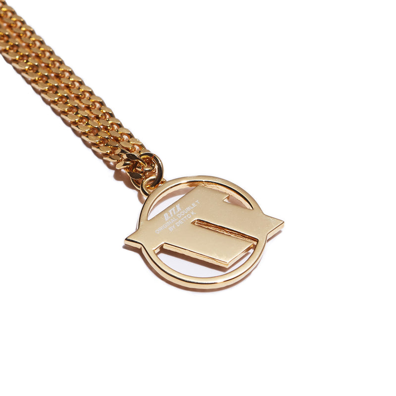 TT PAVE NECKLACE (SIL/GLD)