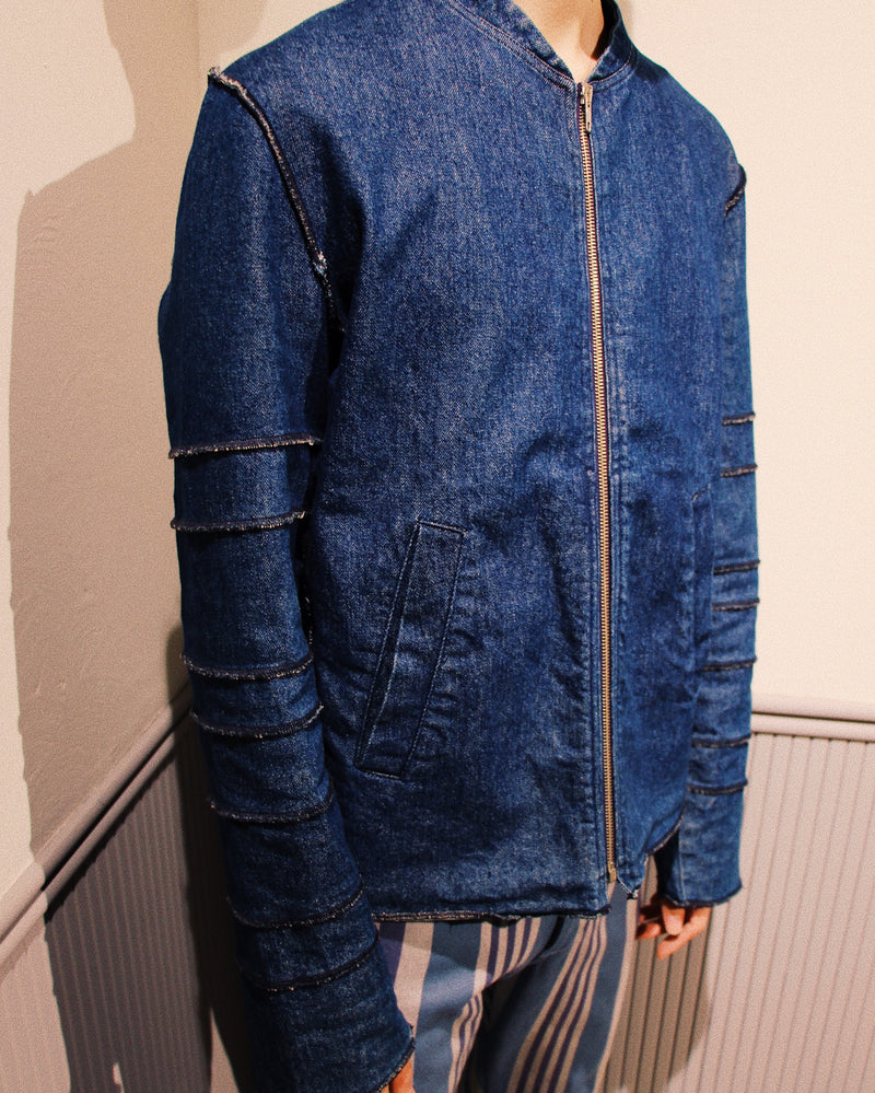 1990's JEAN COLONNA - Zip Denim Jacket