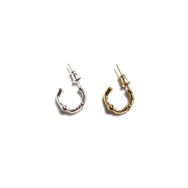 bone shaped earrings (SIL/GLD)