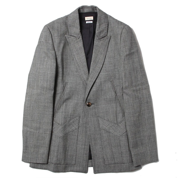 TAILORED JACKET WITH 5 POCKETS AND BRASS BUTTON (SCSS21JA1) Grey