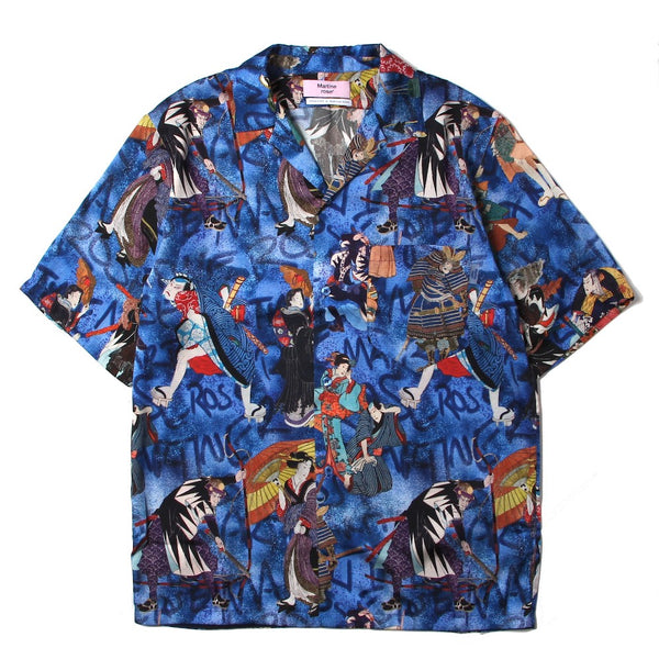HAWAIIAN SHIRT (MR429W-MR603) BLUE RED