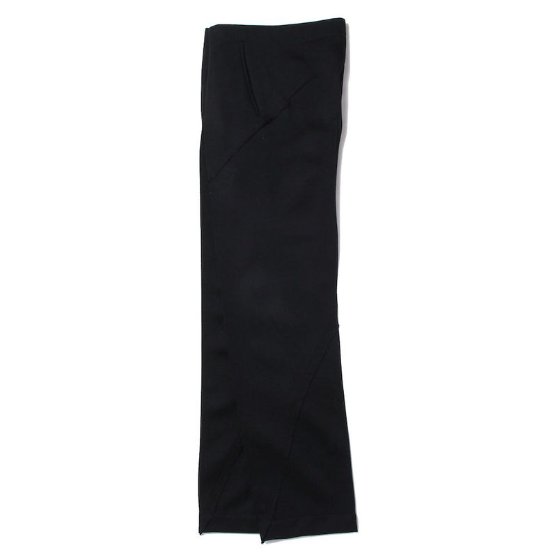 TWISTED STRAIGHT TROUSERS (BLK)