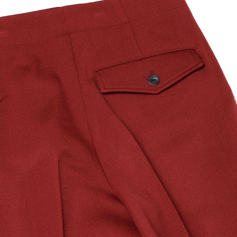 TWISTED STRAIGHT TROUSERS (RED)