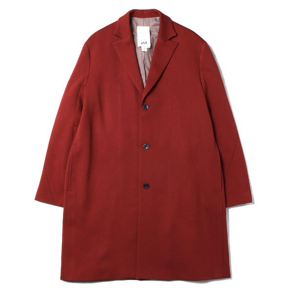 TWISTED SLEEVE CHESTER COAT (RED)