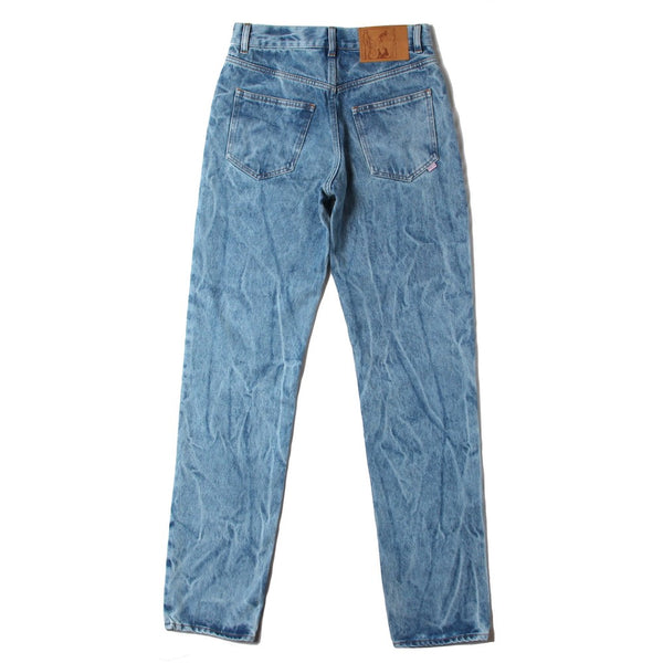 STRAIGHT LEG JEANS (MR204A-MR064) ACID BLUE DENIM