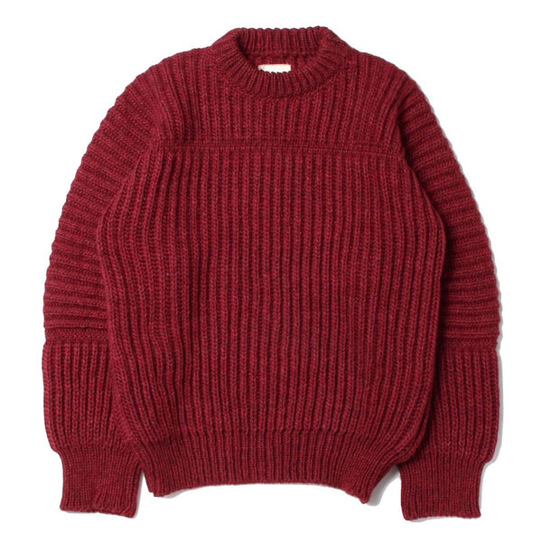 LINED RIB KNIT (RED)