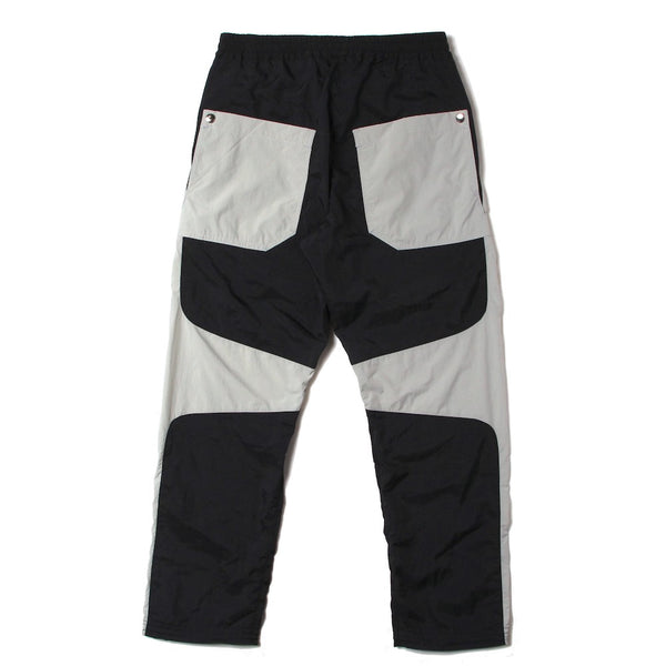 CONTRAST PANELLED TRACK TROUSER (SS21_39) Black & Stone
