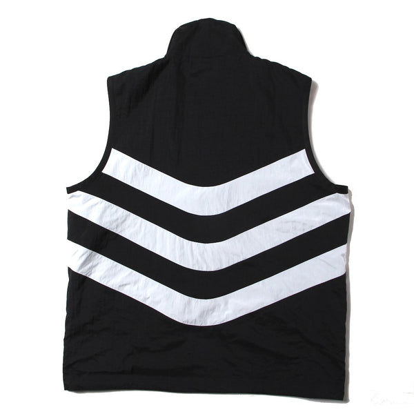 STRIPE PANELLED VEST (SS21_21) Black & White