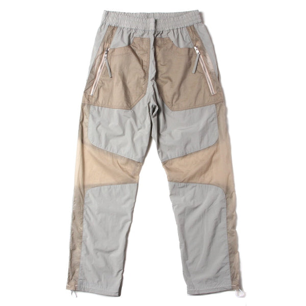 CONTRAST PANELLED TRACK TROUSER (SS21_40) Stone & Khaki
