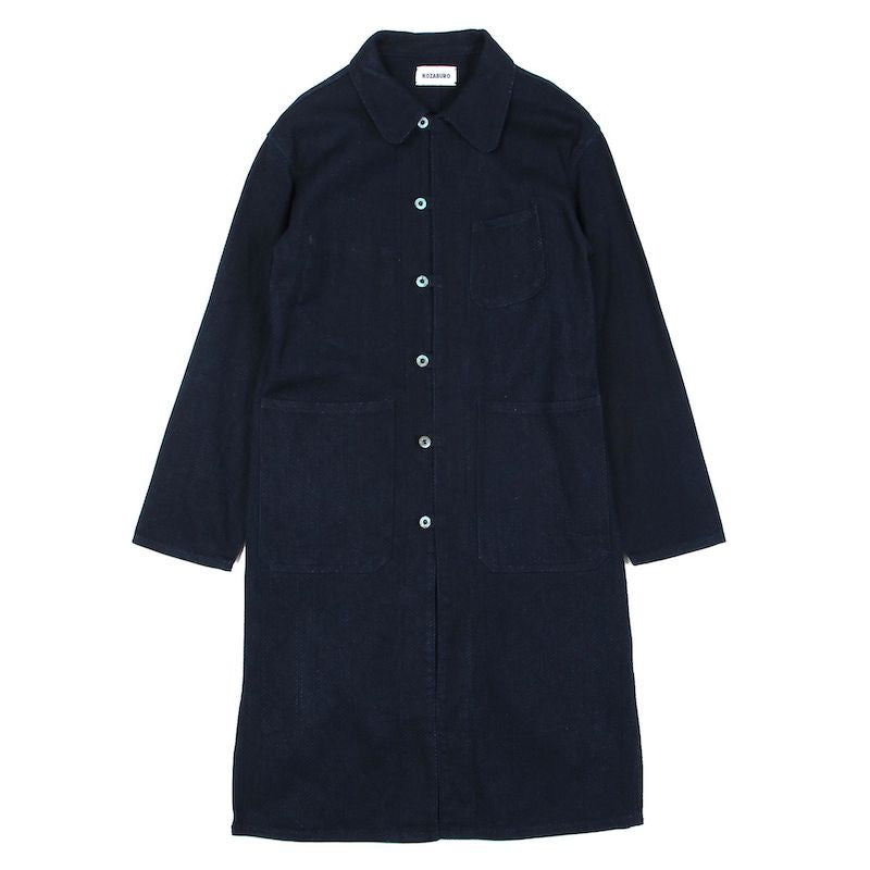 WEAVED COTTON SASHIKO ORIENTAL WORK COAT (IDG)