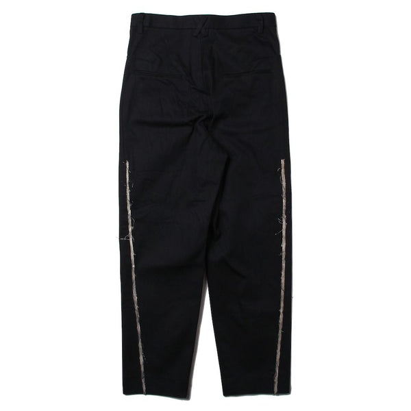 1% STRETCH DENIM YING-YANG TROUSERS (BLK)