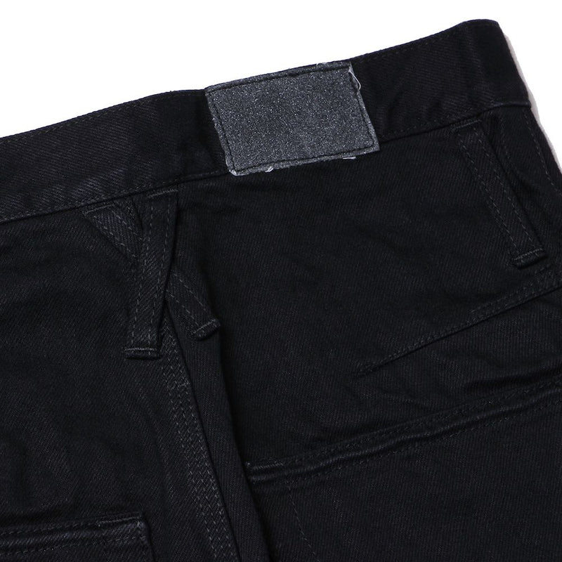 1% STRETCH DENIM SHORT 3D BOOTS CUT JEANS (BLK)