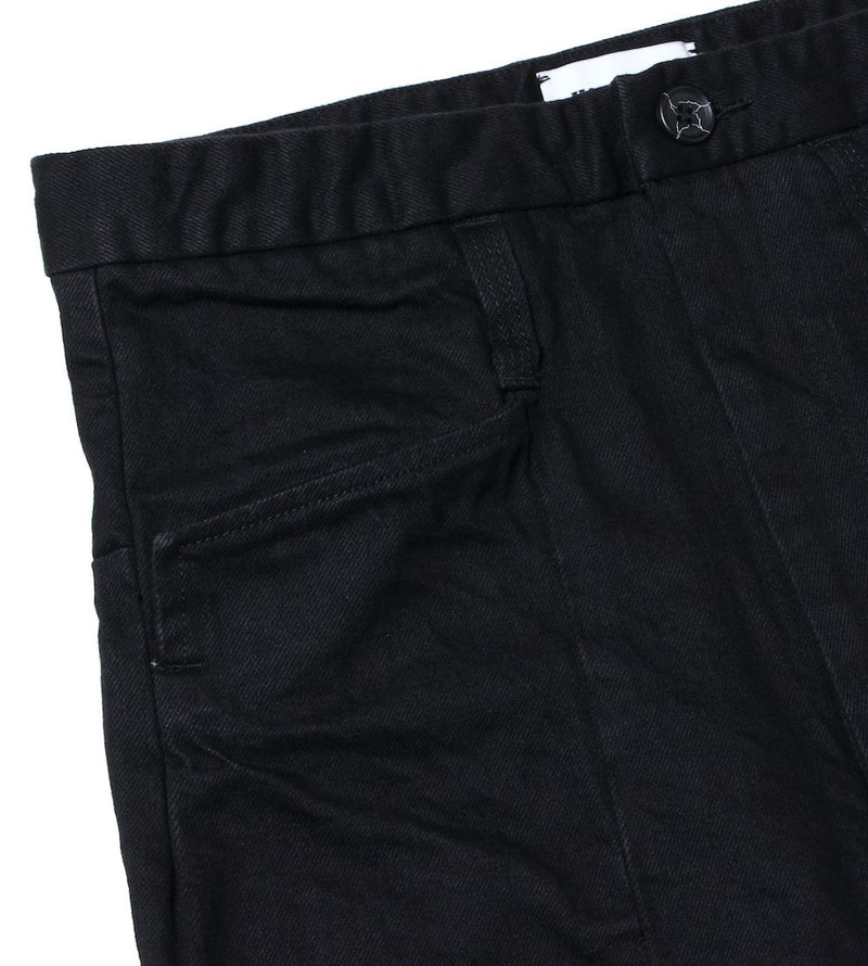 1% STRETCH DENIM 3D SHAPED TROUSERS (BLK)