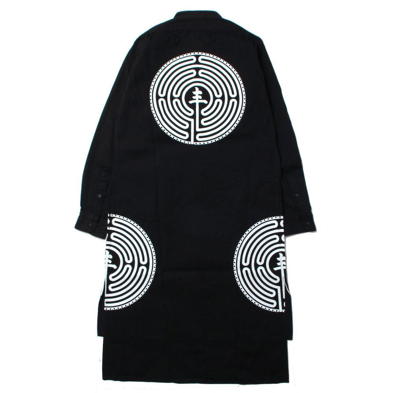 MANDALABYRINTH GRAPHIC CLASSIC FIT LONG SHIRTS (BLK)