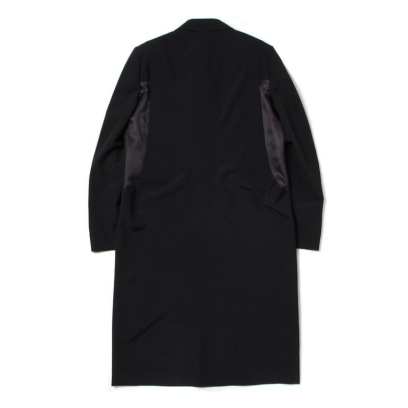 Dracula Satin Patch Long Jacket (BLK)