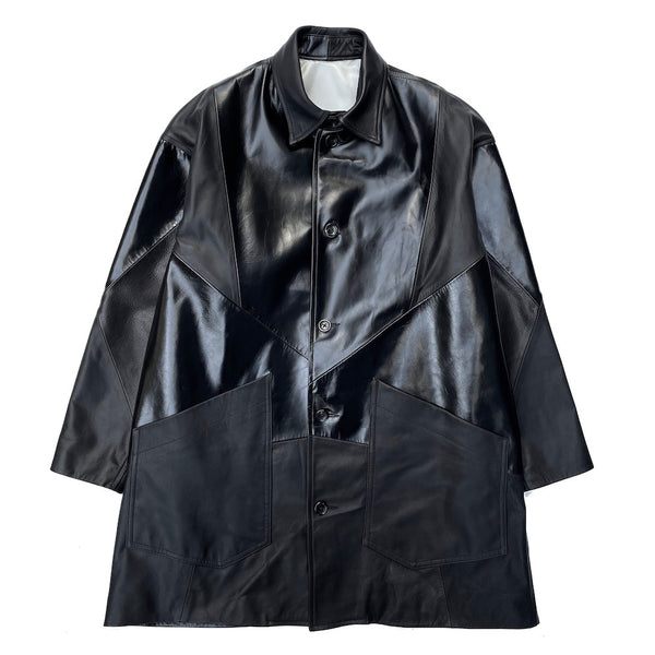 EXCLUSIVE LEATHER COVERALL (SN-C09-910-S) BLACK