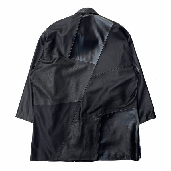 EXCLUSIVE LEATHER COVERALL (SN-C09-910-M) BLACK