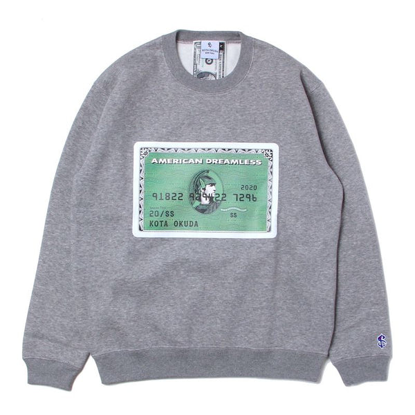 EX AMERICAN DREAMLESS SWEAT TOP (GRY)