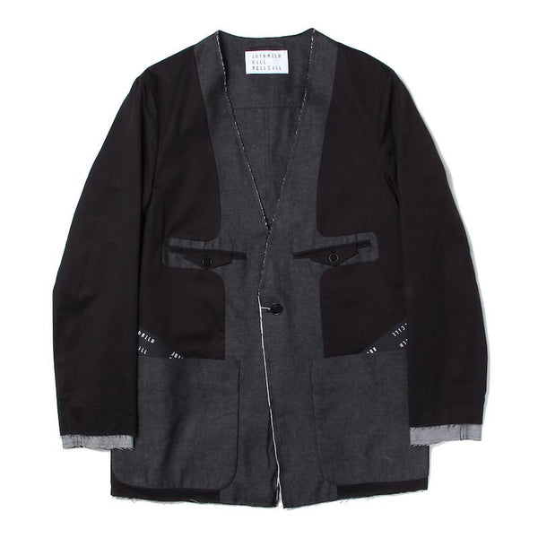 INSIDE-OUT NO COLLAR JACKET (BLK)
