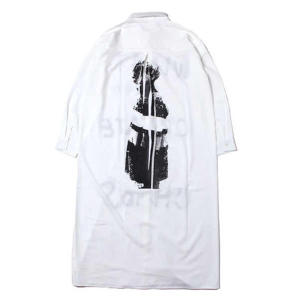 ANARCHY LONG DRESS SHIRT (WHT)