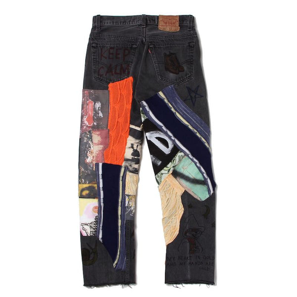 Custom Denim Pants (BLK)
