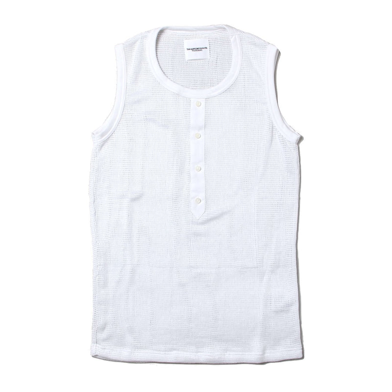 shirt front sleeveless tee (WHT)