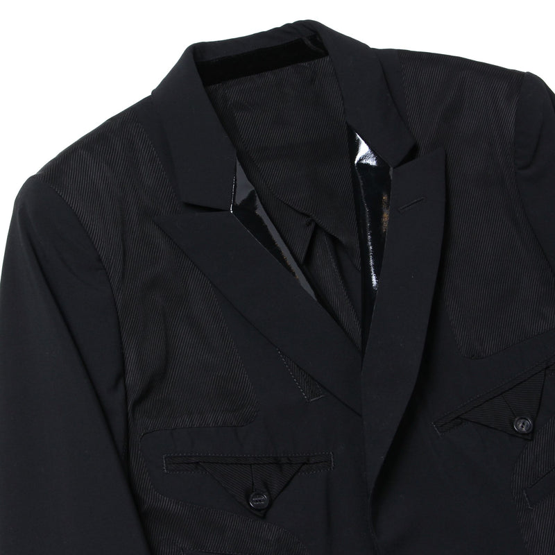 single breasted peaked lapel insideout jacket -duet 5-