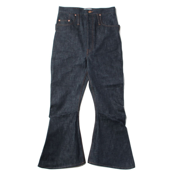 SELVEDGE COTTON DENIM 3D BOOTS CUT JEANS (IDG)