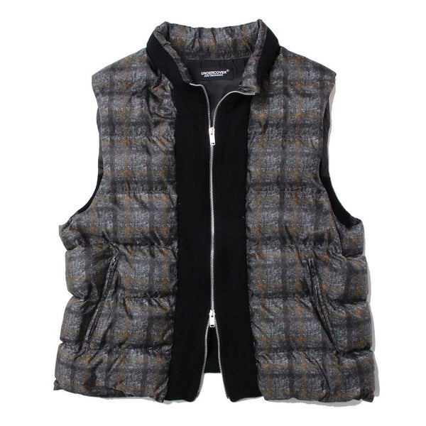 MILLING CHECK VEST (GRY)