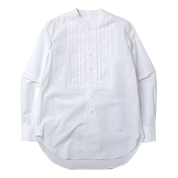 band collar shirt type1 (WHT)