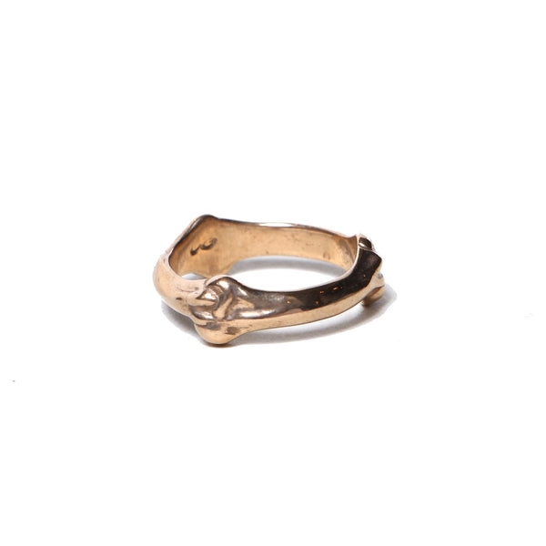 bone shaped band ring (GLD)
