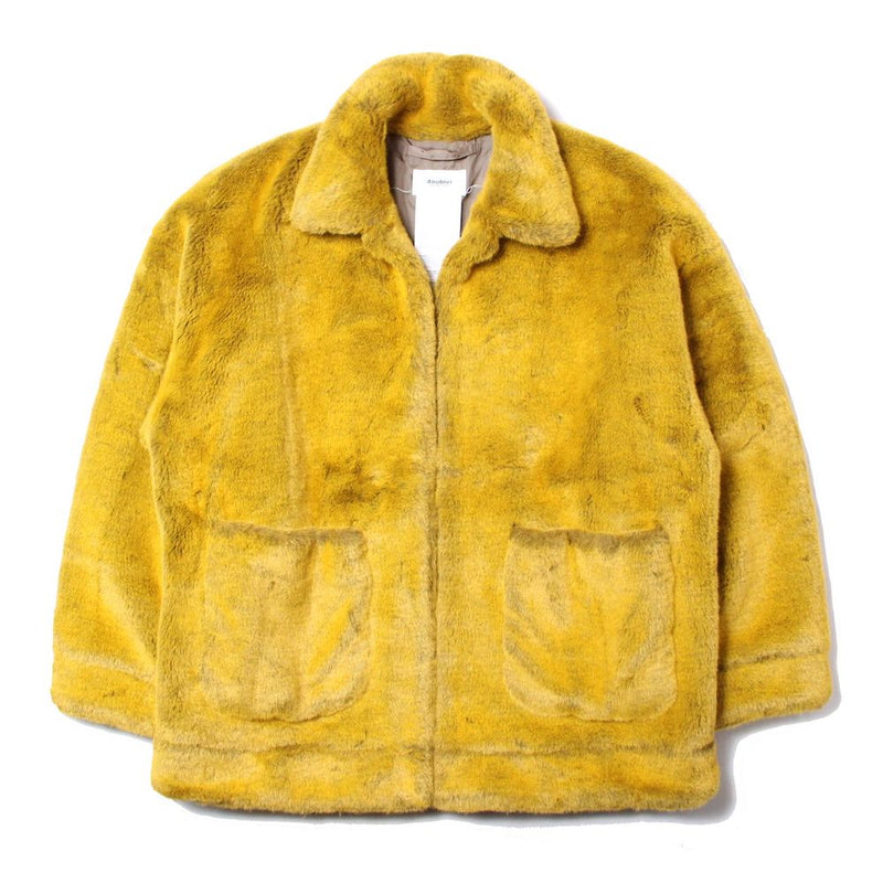 HAND-PAINTED FUR JACKET (YLW)