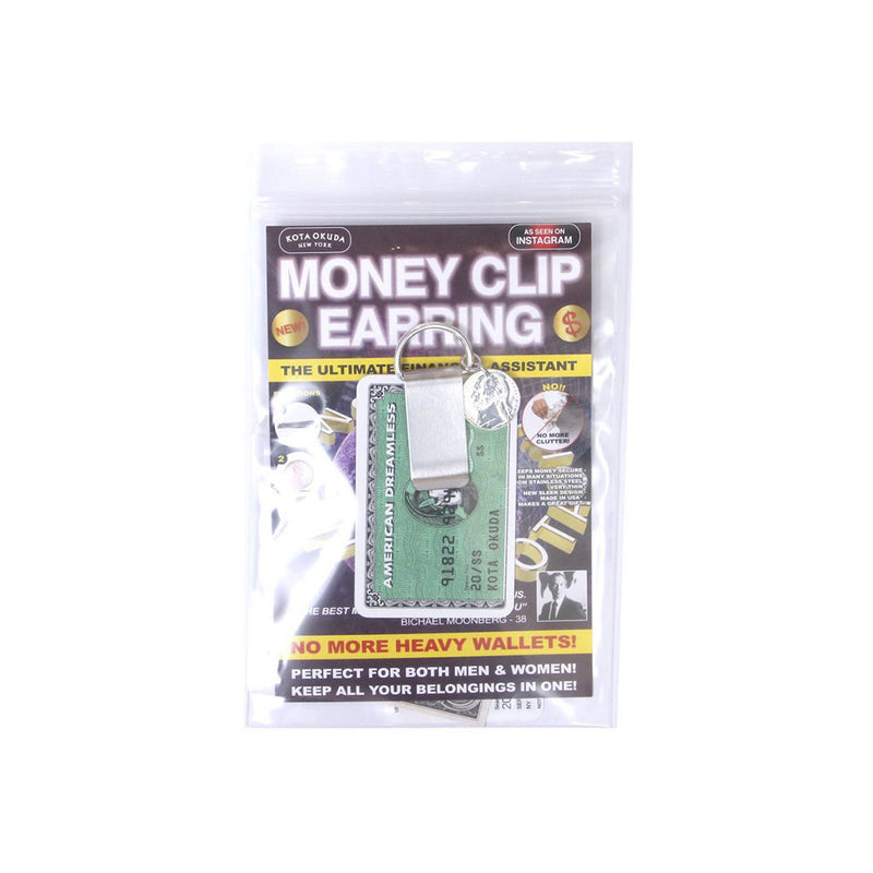 MONEY CLIP EARRING (SIL)
