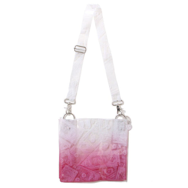 BILLS PRINT PVC SHOULDER BAG (PNK)