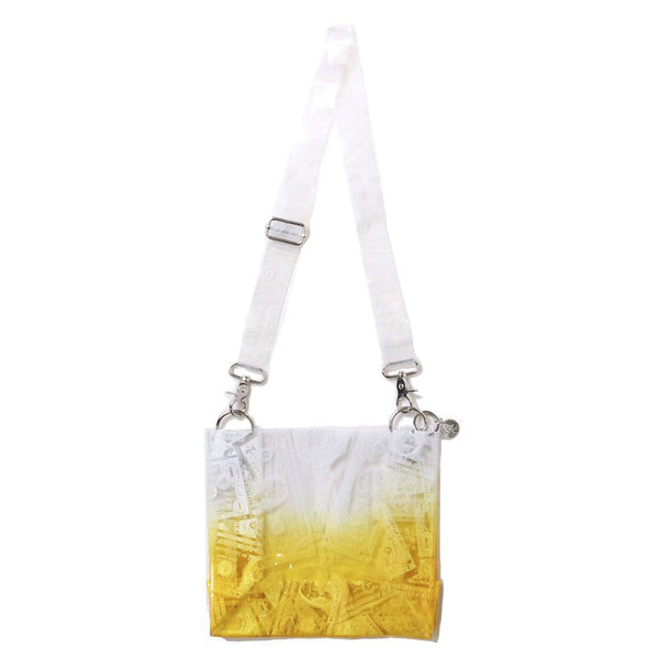 BILLS PRINT PVC SHOULDER BAG (ORG)