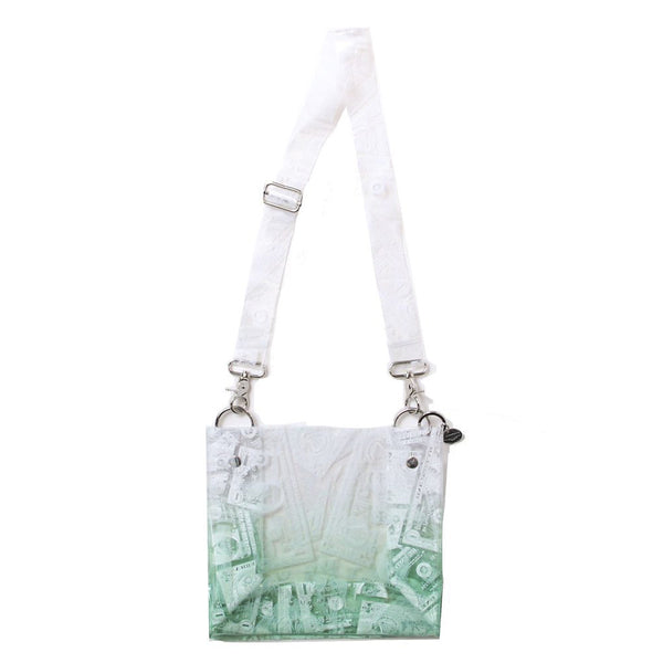 BILLS PRINT PVC SHOULDER BAG (GRN)
