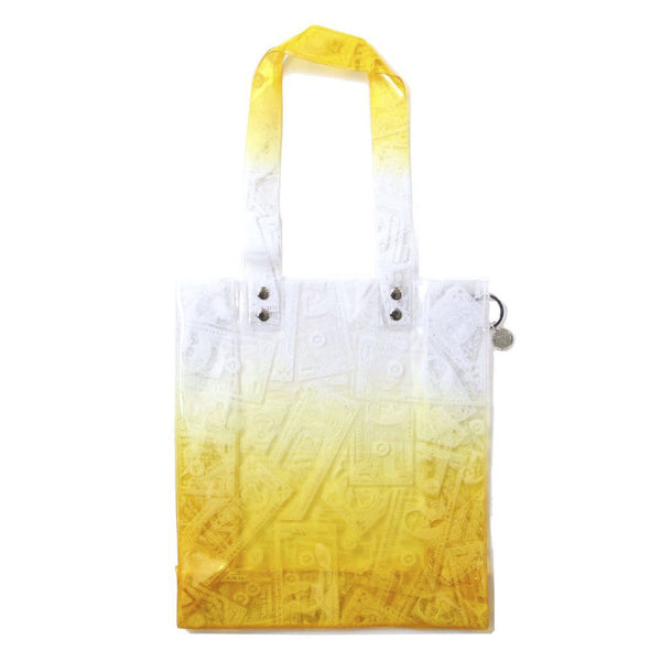 BILLS PRINT PVC TOTE (ORG)