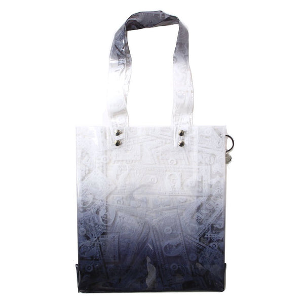 BILLS PRINT PVC TOTE (BLK)